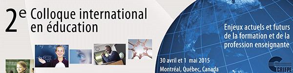 2e Colloque international en éducation