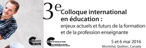 3e colloque international en éducation