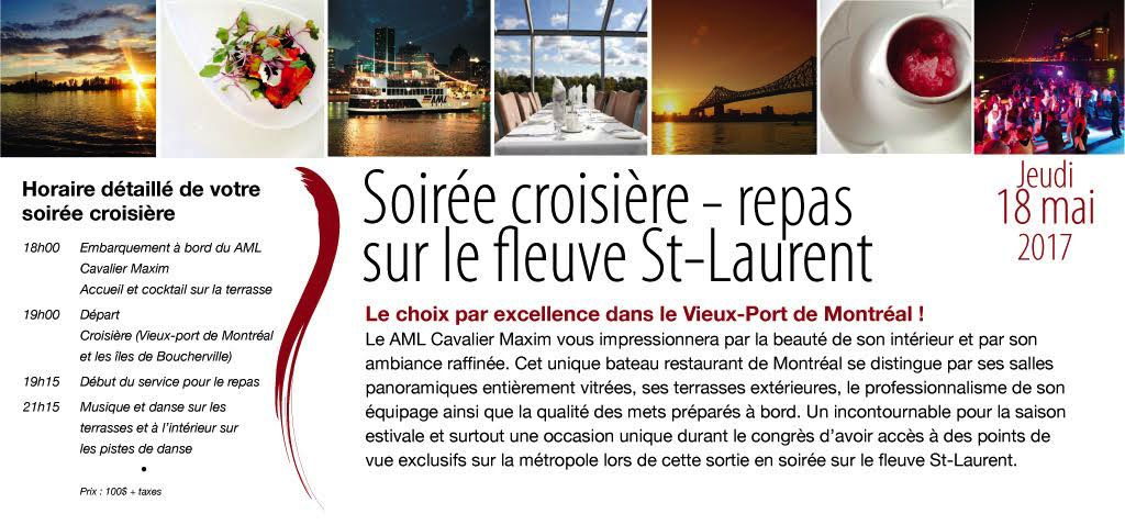 Soirée croisière sur le fleuve St-Laurent