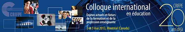 1er Colloque international en éducation