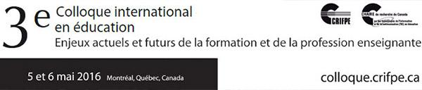 3e Colloque international en éducation